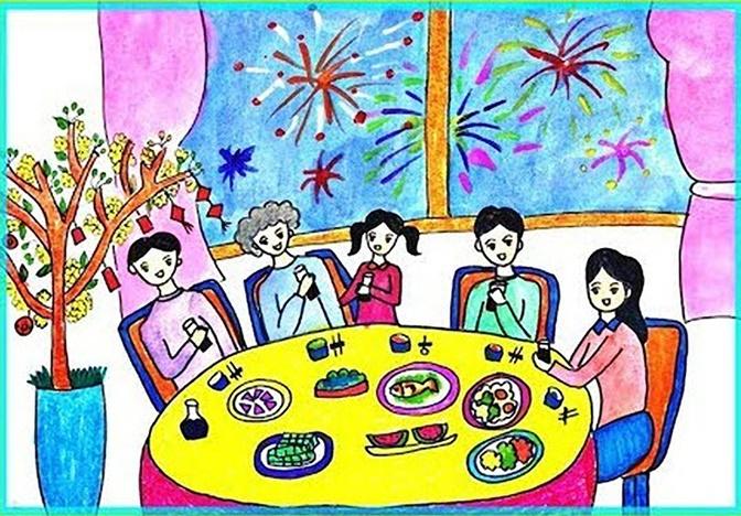 Bữa cơm gia đình ngày Tết