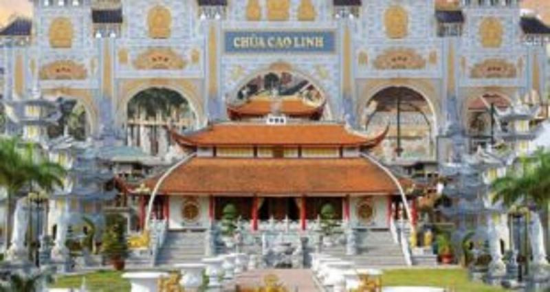 Chính điện chùa Cao Linh