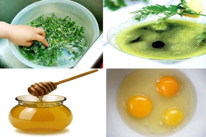 Chữa đau bụng kinh bằng ngải cứu với trứng gà và mật ong