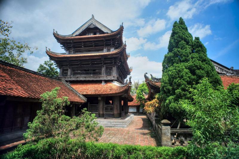 Một góc khung cảnh đẹp mê hồn của chùa Keo