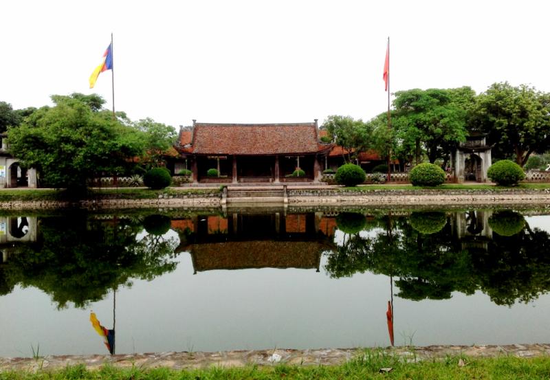 Quang cảnh bên ngoài của chùa Keo