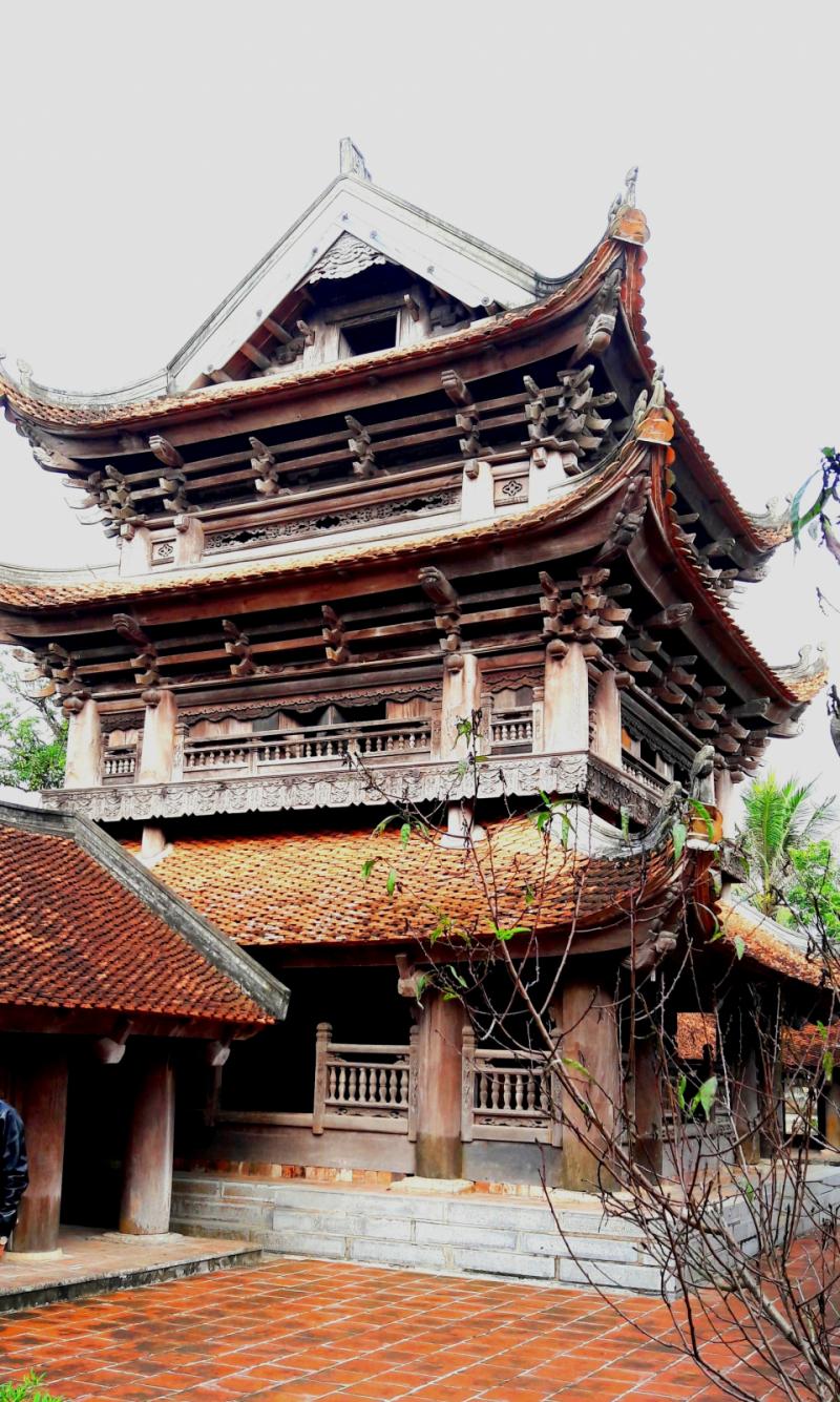 Gác chuông chùa Keo với kiến trúc độc đáo