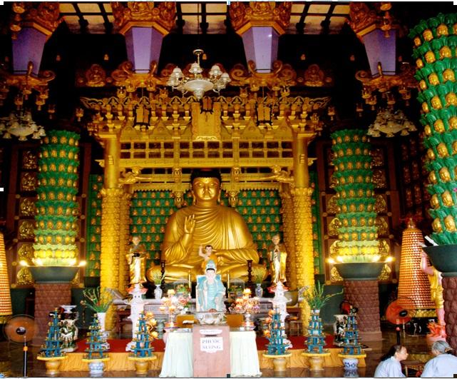 Chánh điện chùa Minh Tịnh