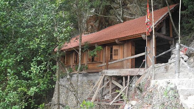 Một góc chùa Một Mái