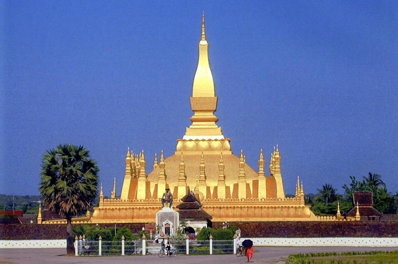 Trung tâm tháp Pha That Luang
