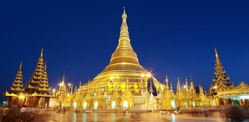 Chùa Shwedagon ở Myanmar.