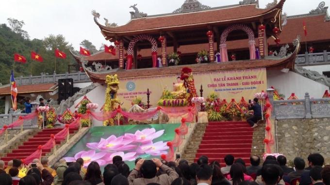 Lễ khánh thành chùa Tân Thanh
