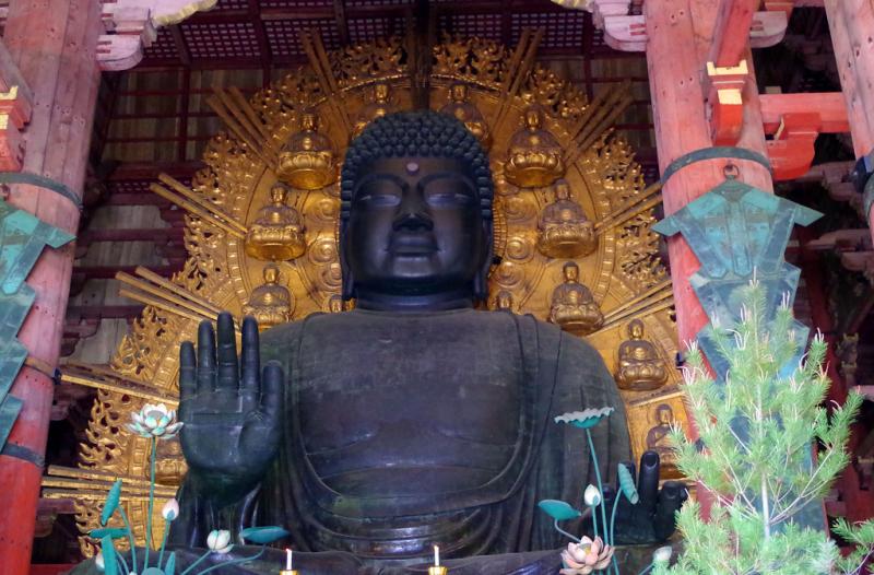 Tượng Phật bằng đồng lớn nhất Nhật Bản ở Todaiji