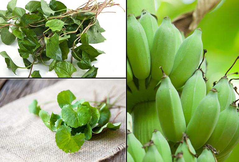 Bài thuốc chữa trào ngược dạ dày bằng chuối xanh, rau diếp cá và rau má đơn giản, dễ thực hiện