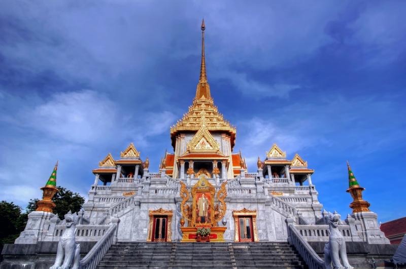Vẻ đẹp của ngôi chùa Phật vàng nổi tiếng ở Bangkok.