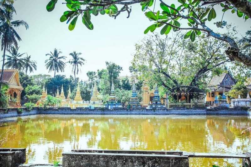 Một cảnh trong khuôn viên chùa