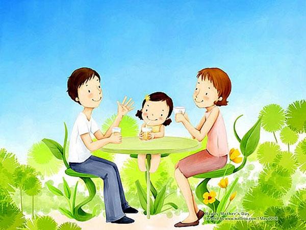 Chúc ba mẹ năm mới nhiều niềm vui mới