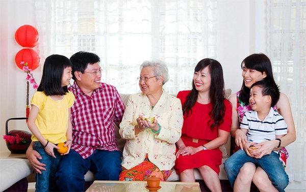 Chúc ba sức khỏe dồi dào, chúc mẹ thêm tuổi mới, ốm đau chẳng còn