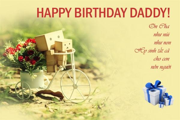 Mừng sinh nhật bố của chúng con