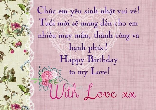 Mừng sinh nhật người anh yêu