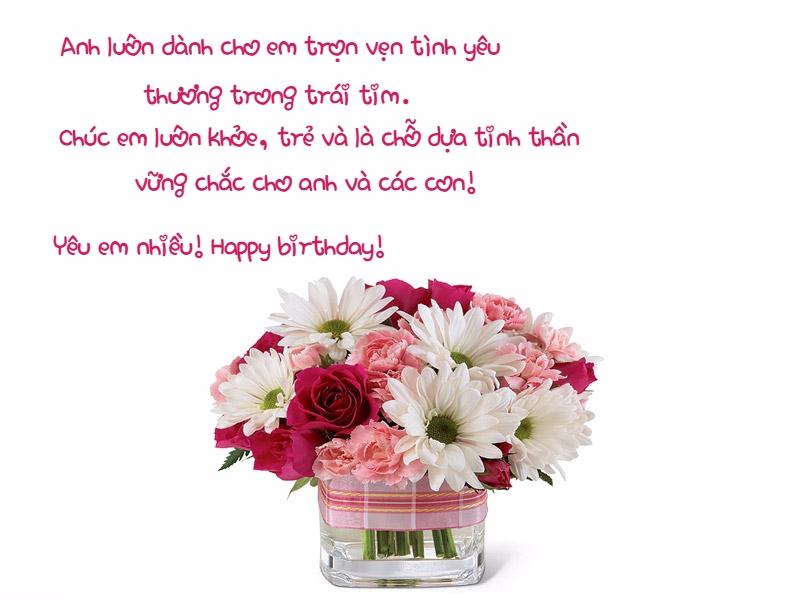 Mừng sinh nhật vợ yêu