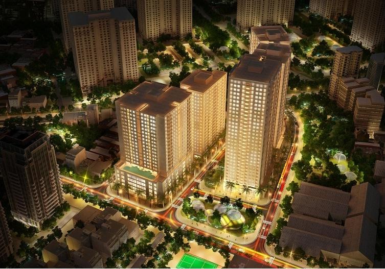 Phối cảnh dự án New Horizon City về đêm