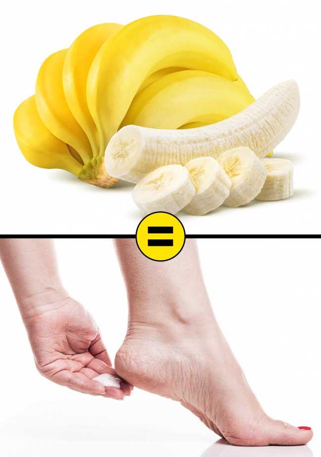 Dùng chuối trị nứt nẻ gót chân