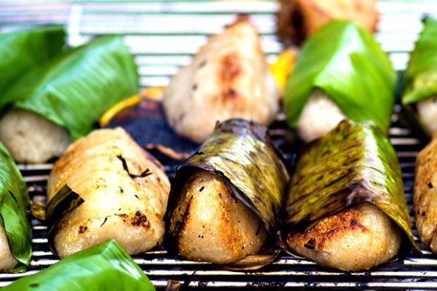 Chuối nếp nướng cốt dừa