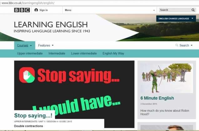 Học tiếng Anh qua đài BBC