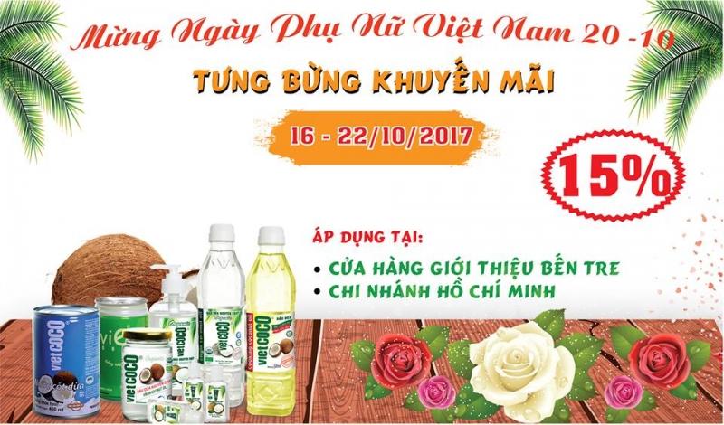 Chương trình khuyến mãi 20/10 của công ty TNHH Chế Biến Dừa Lương Quới