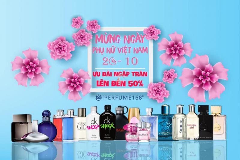 Chương trình khuyến mãi chào mừng 20/10 của Perfume168