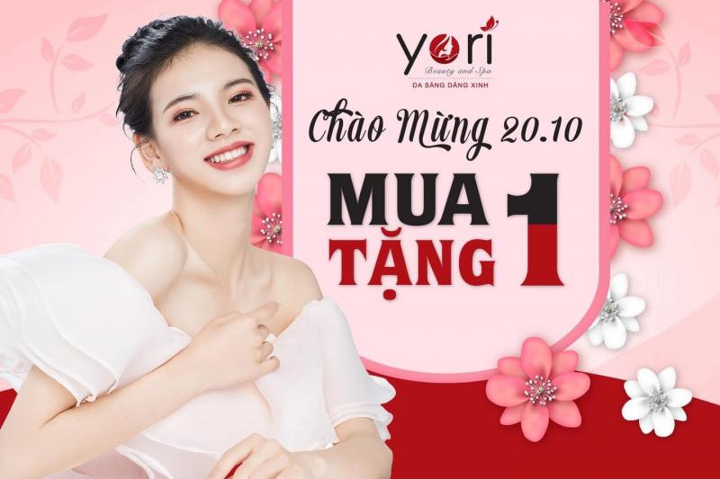 Chương trình khuyến mãi chào mừng ngày 20/10 của Yori Beauty & Spa