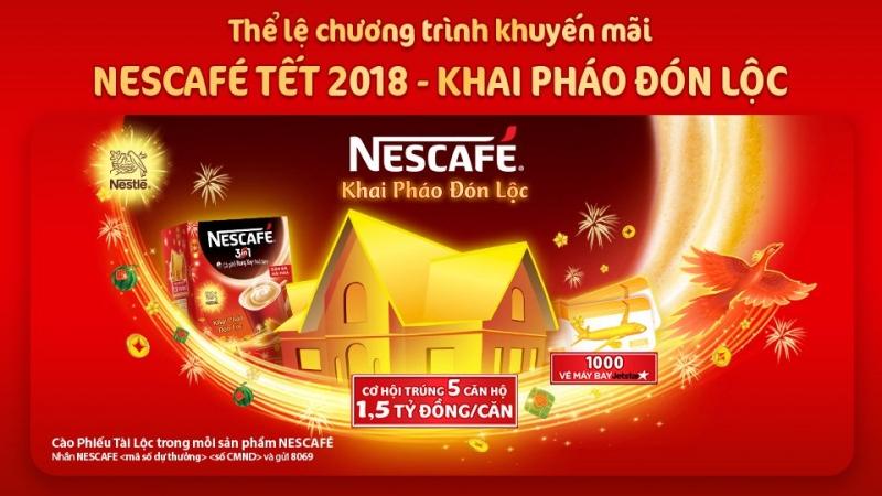 Chương trình khuyến mại tết nguyên đán 2018 của NESCAFÉ