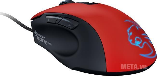 Chuột Gaming Roccat Mouse Kone Pure tạo cho mình một sức hút bí hiểm đầy mạnh mẽ với bảng 16.8 triệu sắc màu