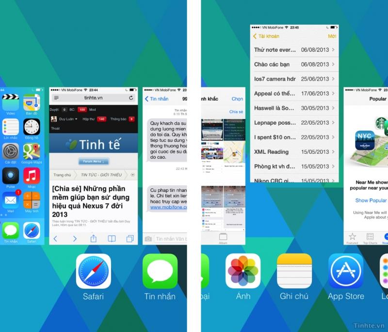 Tắt 3 ứng dụng cùng lúc