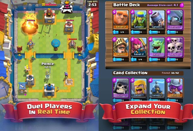 Giao diện game Clash Royale