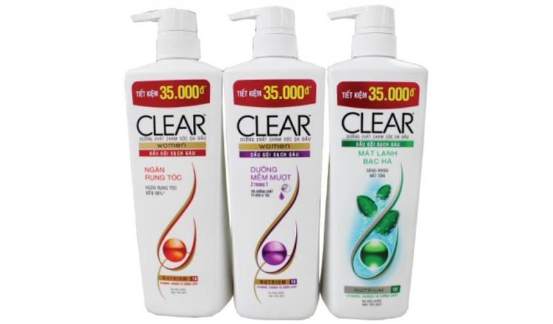 Nhãn hiệu dầu gội Clear