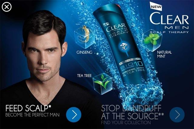 Clear Men là sản phẩm dầu gọi yêu thích với nam giới