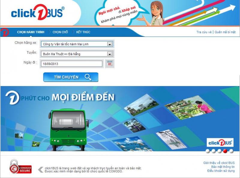 Website Click1bus.com