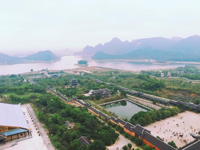 Chùa Bái Đính chụp từ trên cao ( nguồn instagram Labaohien)