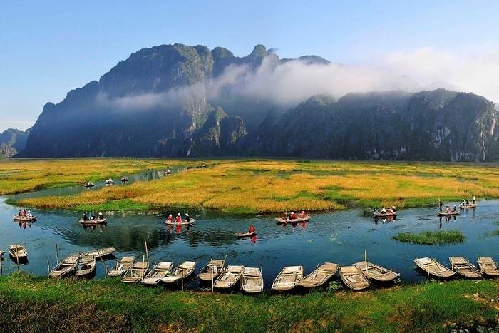 Khung cảnh tuyệt đẹp ở Ninh Bình