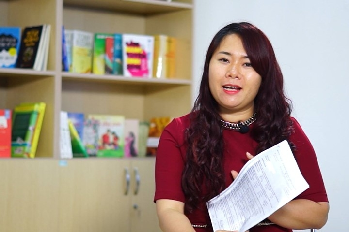 Cô giáo Nguyệt Ca – tiếng Anh