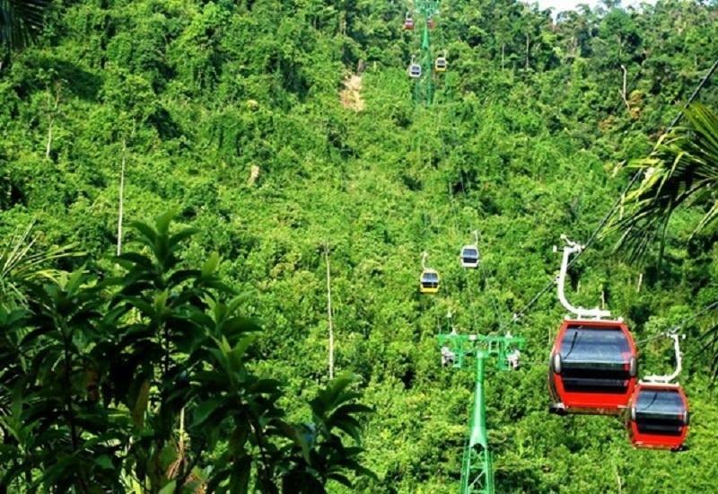 Hệ thống cáp treo núi Chứa Chan