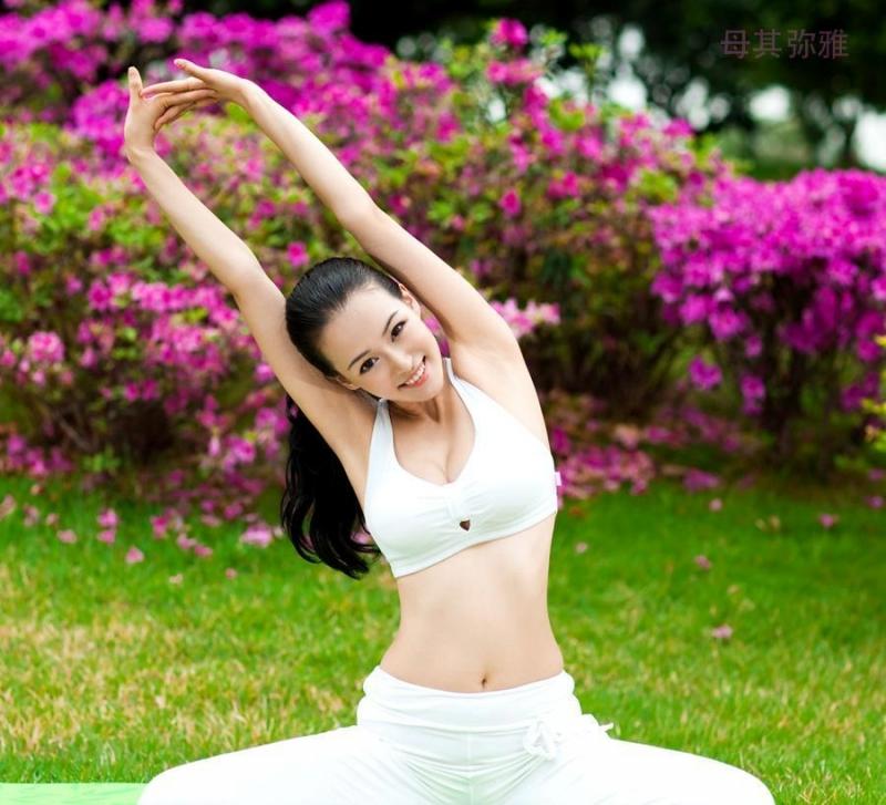 Tâm hồn thư thái khi tập yoga