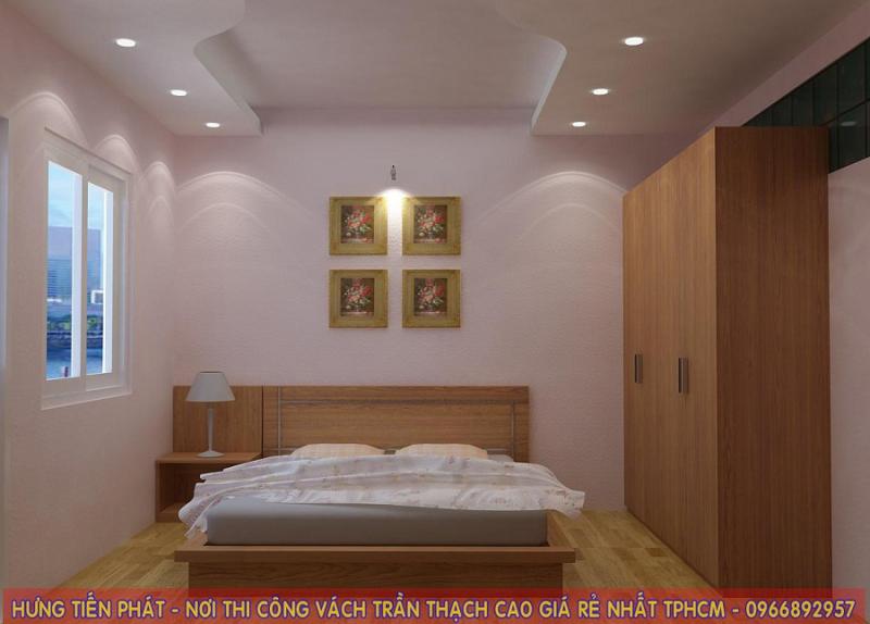 Trần thạch cao trong phòng ngủ