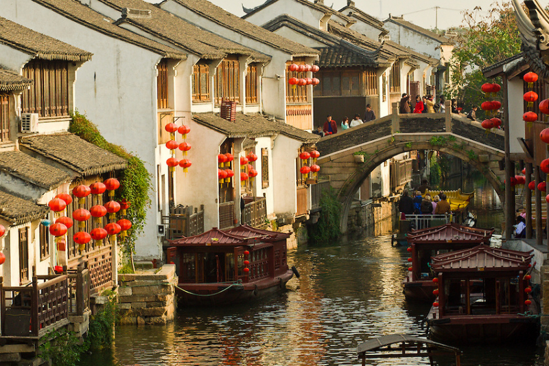 Khung cảnh nơi đây rất giống trong những bộ phim Trung Quốc ta từng xem