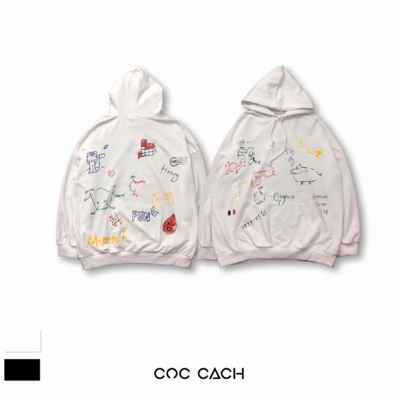 Những chiếc hoodie họa tiết, màu sắc đặc trưng