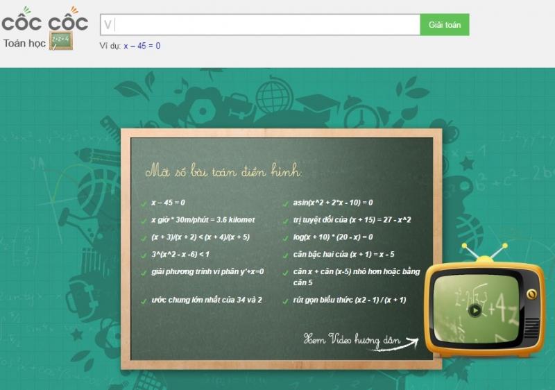 Website của Cốc Cốc