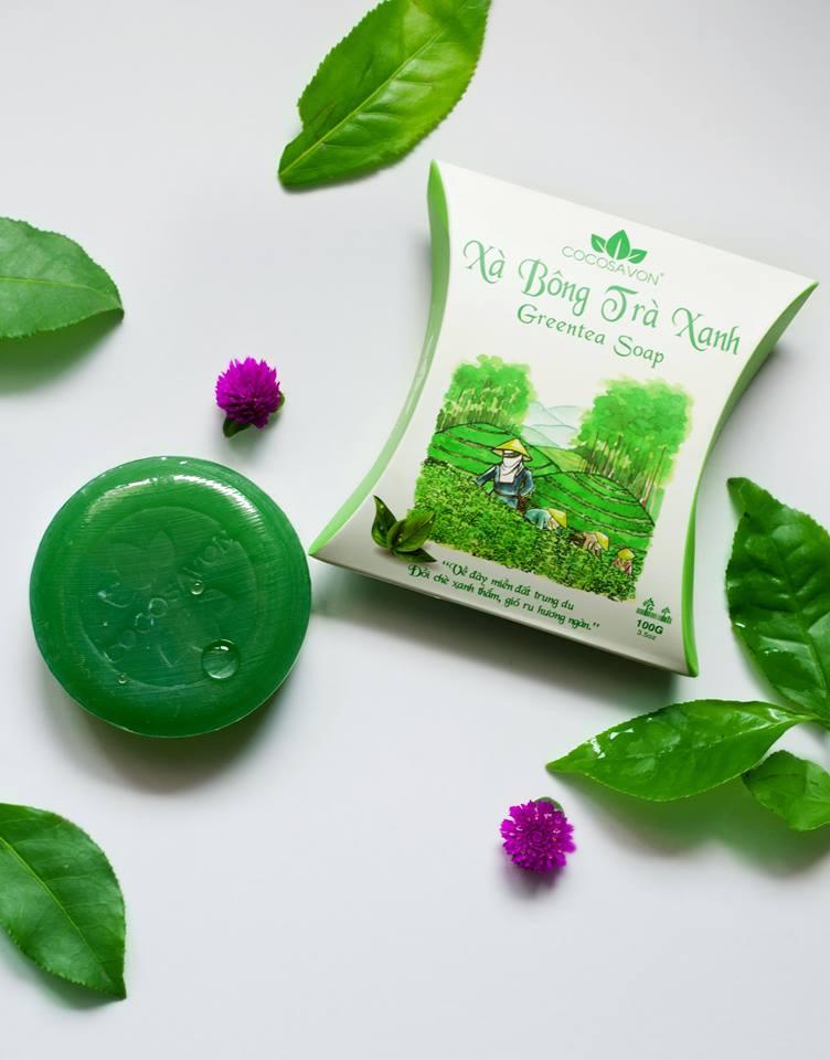 Xà bông trà xanh Cocosavon