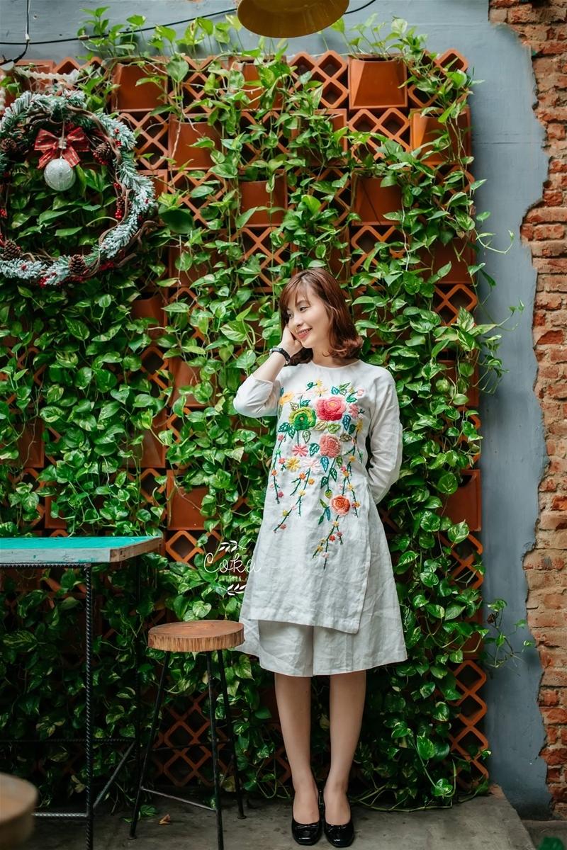 Áo dài cách tân tại shop Coka Nguyễn