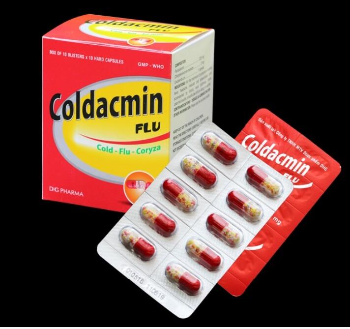 Coldacmin được bào chế dưới dạng viên nang