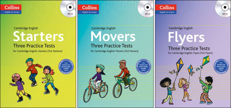 Collins three pactise tests Pre A1 Starters - A1 Movers - A2 Flyers