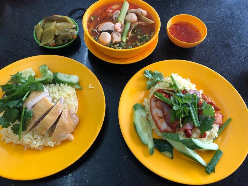 Cơm gà Hải Nam tại quán