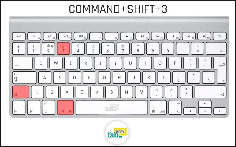 Chụp ảnh màn hình với Command + Shift + 3 hoặc 4