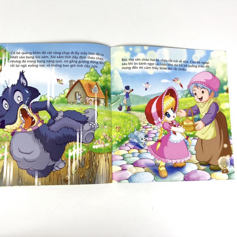 Nội dung câu chuyện Cô bé quàng khăn đỏ trong bộ Truyện kể cho bé nghe trước khi đi ngủ